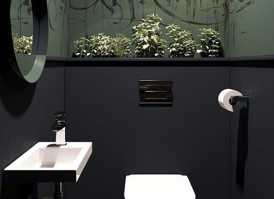 Mang thiên nhiên vào trong phòng tắm, nhà vệ sinh