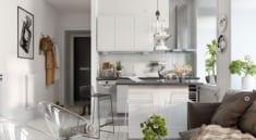 Phòng khách liền phòng bếp